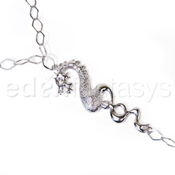 Body jewelry - Silver dragon body chain - view #3