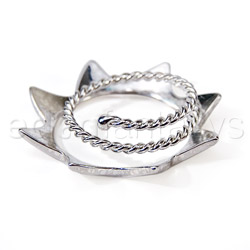 Nipple jewelry - Silver sun nipple shields - view #2