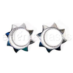 Nipple jewelry - Silver sun nipple shields - view #3