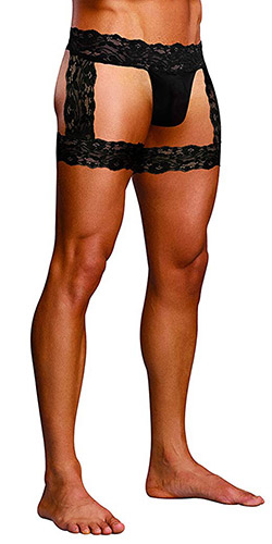 Scandal lace micro garter short