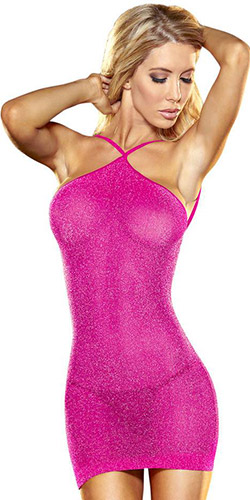 Lapdance hot glitter mini dress