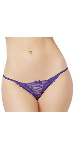 Laced g-string