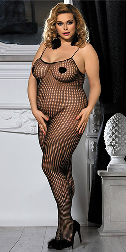 Crochet bodystocking queen size - Crotchless bodystocking