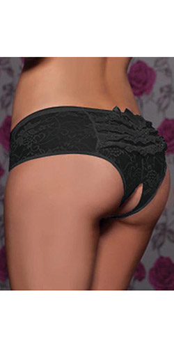 Adore ruffle crotchless panties