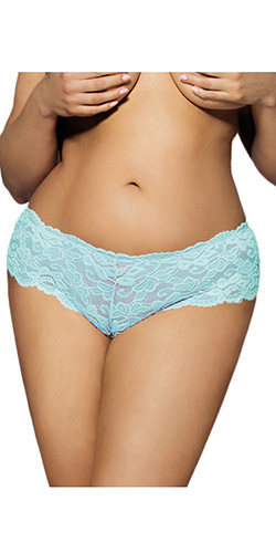 Aqua lace panty queen size - Shorts