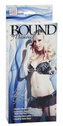 Bound by Diamonds garter set