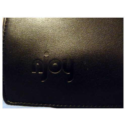 Njoy imprint in leather