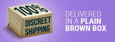 100% Discreet Shipping