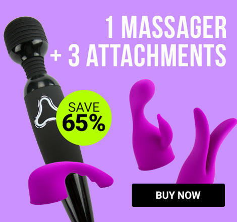 1 Massager + 3 Attachments