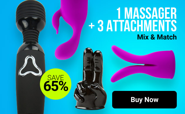 1 massager + 3 attachment