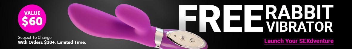 FREE Rabbit Vibrator With Orders $30+