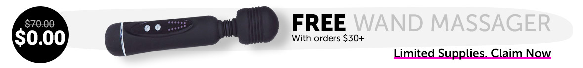 Free Wand Massager With Orders $30+