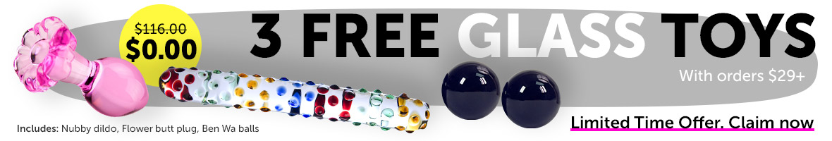3 FREE Glass Toys With Orders $29+