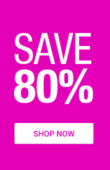 Save 80% On Selected Items