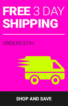 Free 3 Day Shipping With Orders $79+