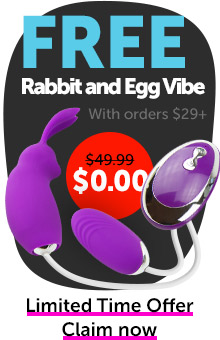 FREE Rabbit and Egg Vibe With Orders $29+