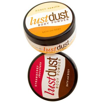Lust dust edible body powder
