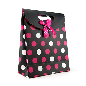 Polka dot gift tote medium