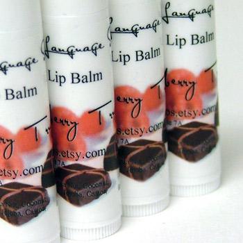 Raspberry truffle lip balm