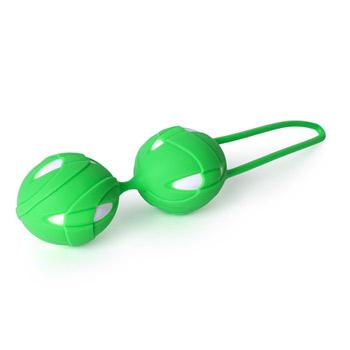 Vaginal exerciser, Vaginal ball – Smartballs Teneo duo (Green   White)
