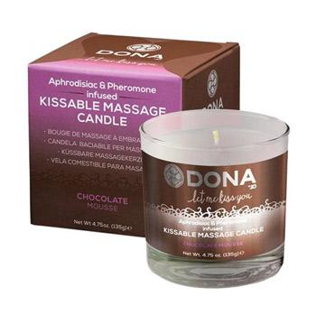 Image of Dona kissable massage candle (Chocolate)