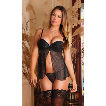 Image of Babydoll and panty set - Pixie Dust babydoll and g-string (S)