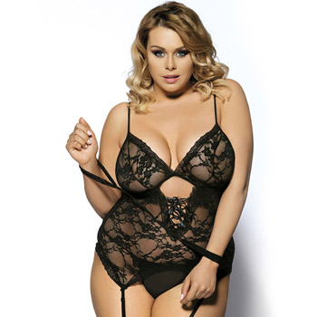 Tie me softly bustier and restraint set queen size