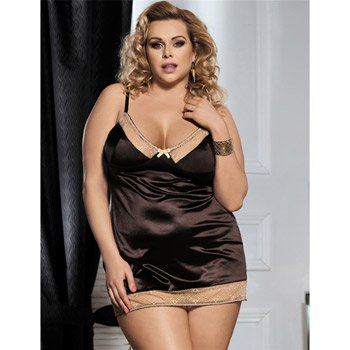 Image of Babydoll and panty set - Chocolate romance queen