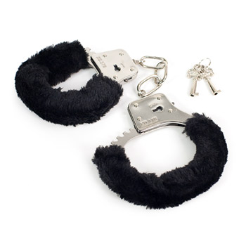 Sex and Mischief fluffy handcuffs - Police style handcuffs