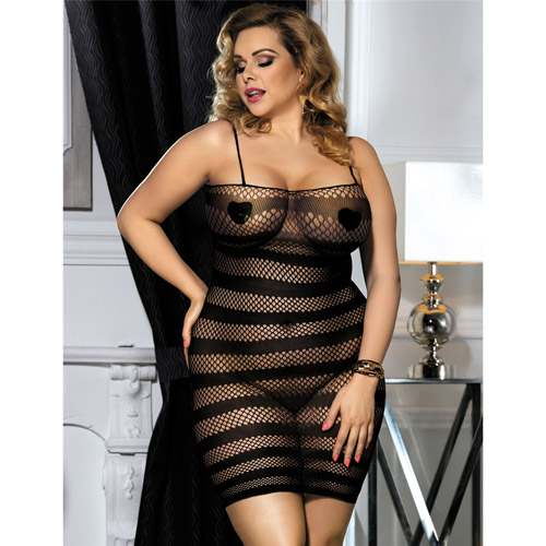 Leila stretchy dress queen size