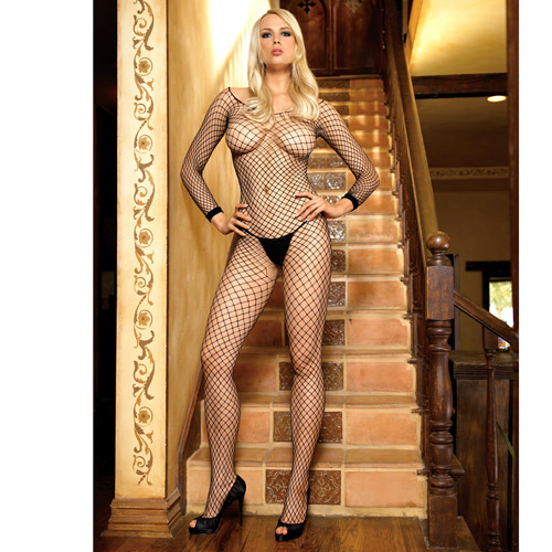 Industrial open crotch body stocking