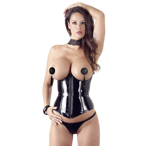 Black Level underbust corset and G-string