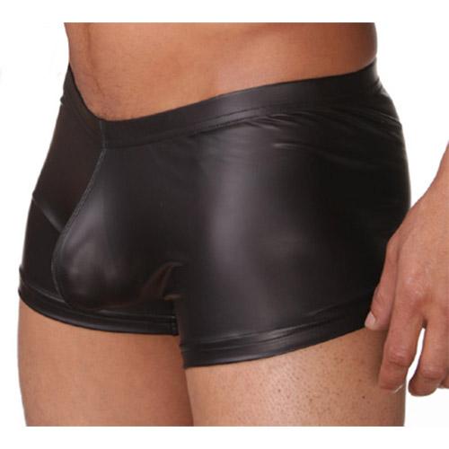 Wet look shorts