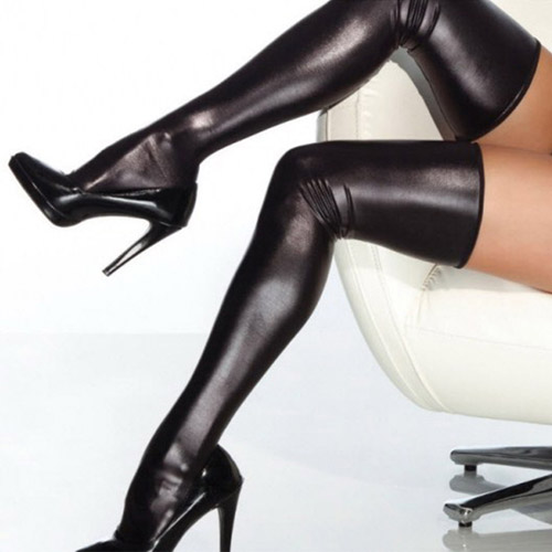 Wet look stockings